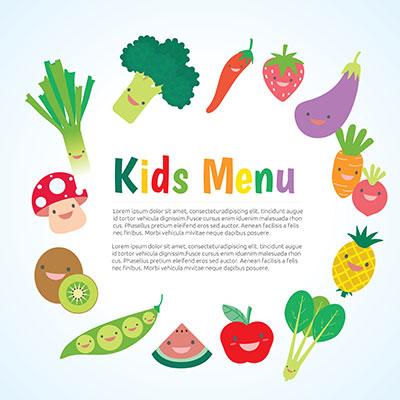 Kids meal menu template