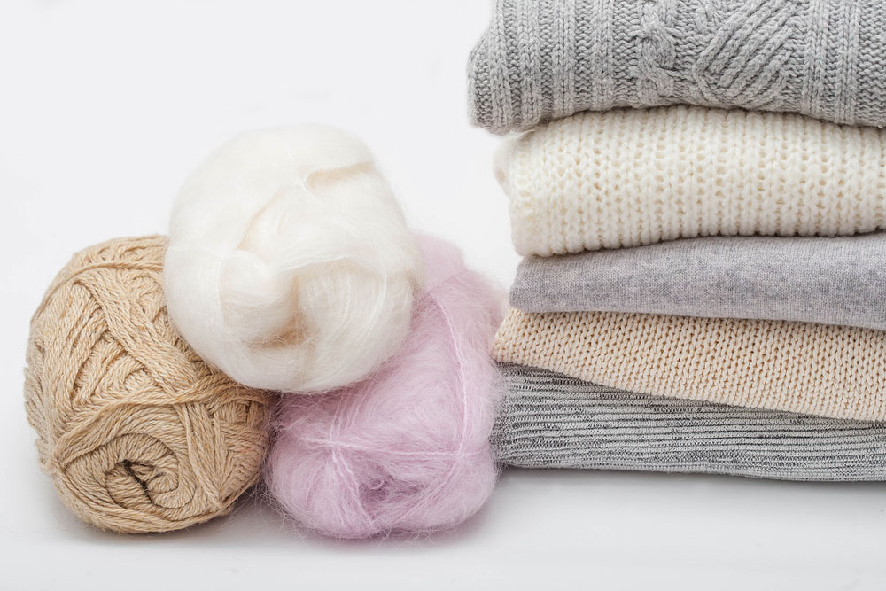 Stack of Folded Woolen Items