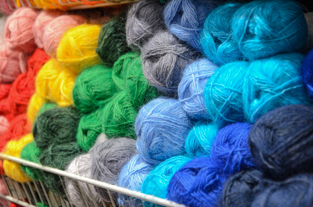 Different Colors of Yarn
