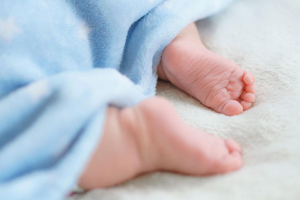 Cute Tiny Feet of Newborn