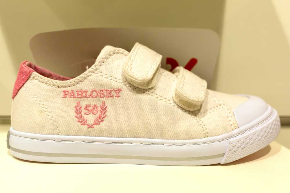 light yellow velcro sneakers