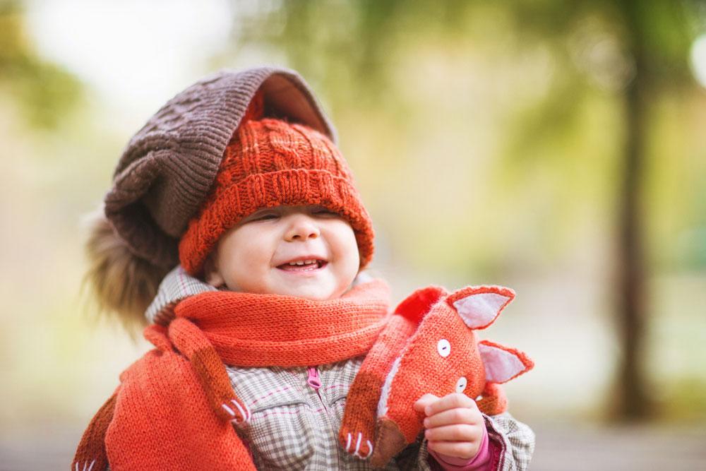 Happy Baby Wearing Hats