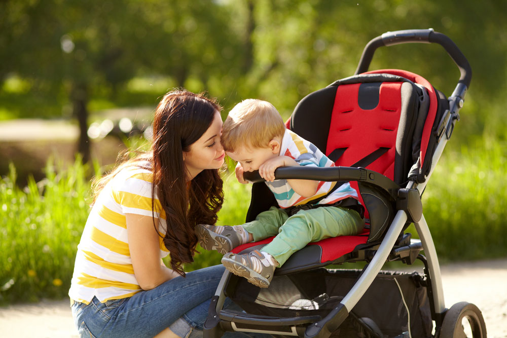 Baby in Stroller with Mum