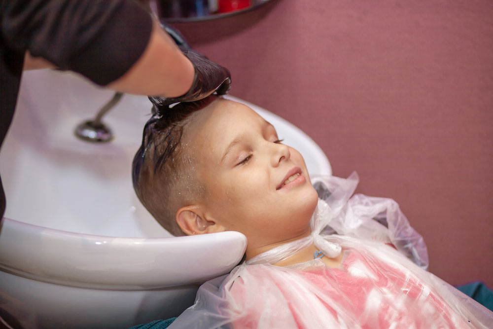 Shearing hair, washing hair